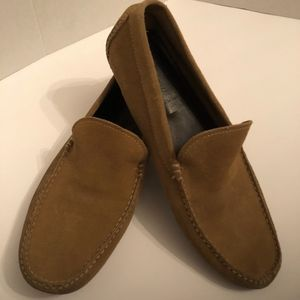 J.CREW Tan Suede Leather Slip-On Loafers